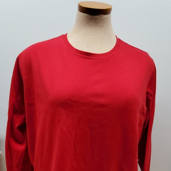 Cato Tops - 2- CATO Red and Burnt Orange fall Long Sleeve XL